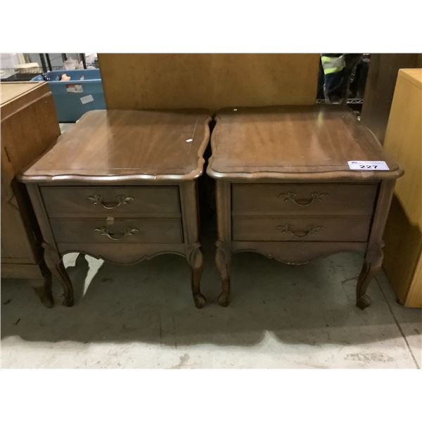 2 SINGLE DRAWER NIGHT STANDS