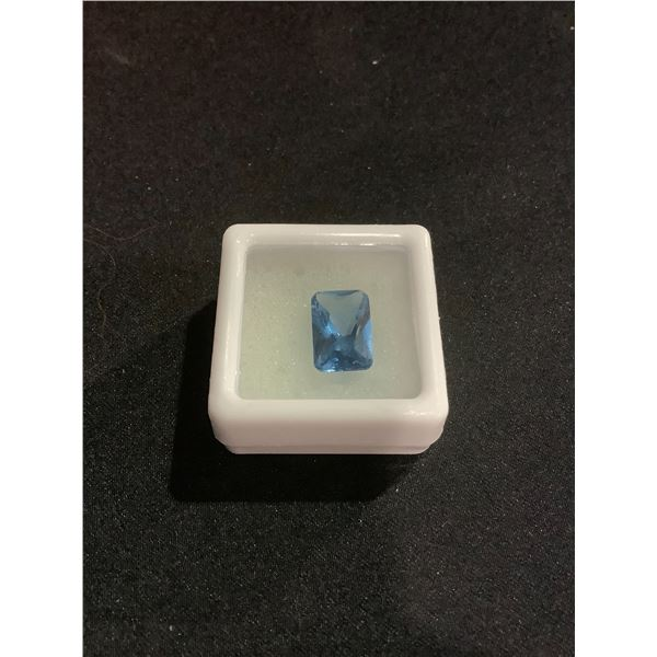 GORGEOUS BLUE SPINEL 4.01CT 12.00 X 8.00 X 4.80MM EMERALD CUT LOUPE CLEAN CLARITY LAB CREATED