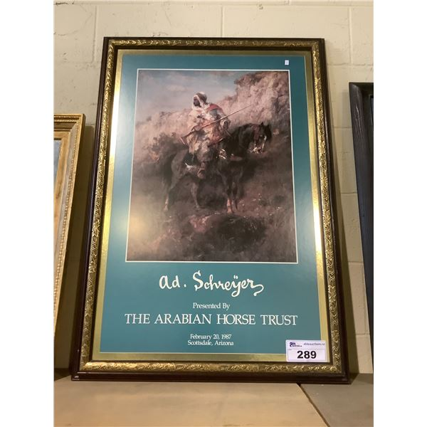 FRAMED PRINT TITLED THE ARABIAN HORSE TRUST