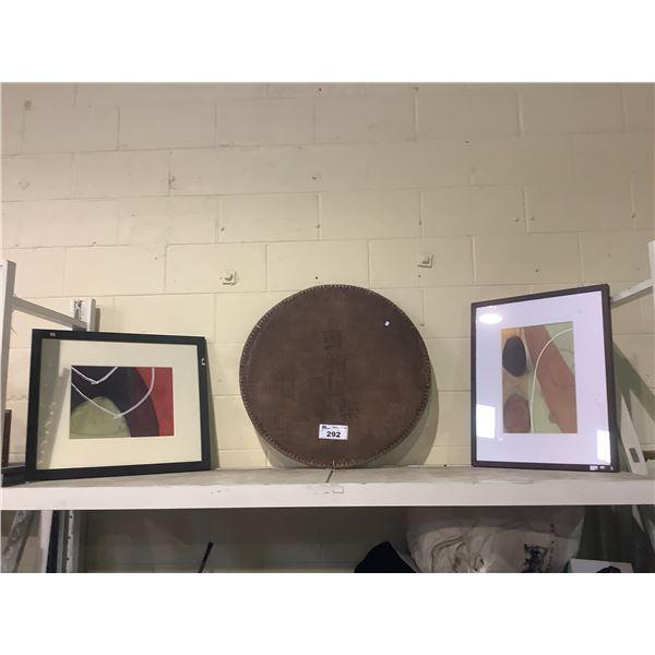 3 PIECES OF ART