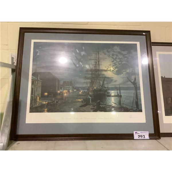 "FRAMED AND ARTIST SIGNED LEP 713/950 BY JOHN STOBART THE BLACKWALL PASSENGERS SHIP ""PARRAMATTA"""