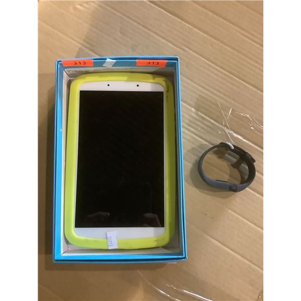 SAMSUNG KIDS EDITION GALAXY TAB A AND A FIT BIT UNKNOWN WORKING ORDERS