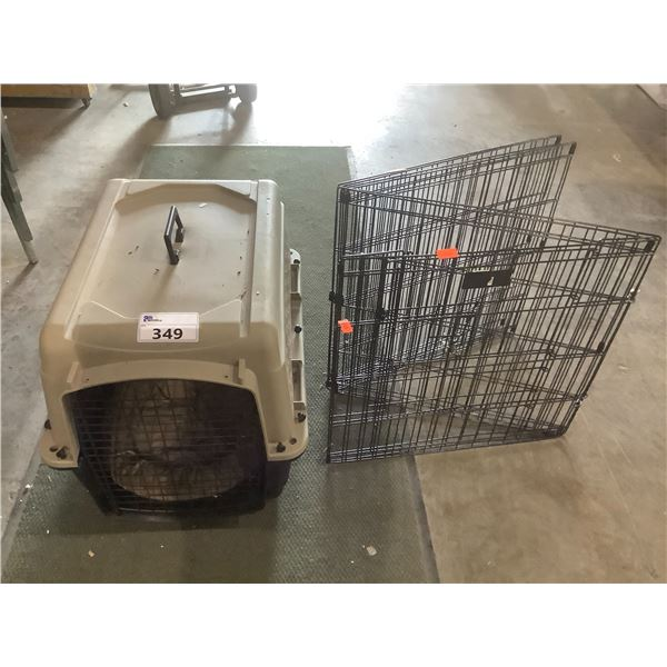 GREAT CHOICE PET CARRIER & BLACK WIRE GATE