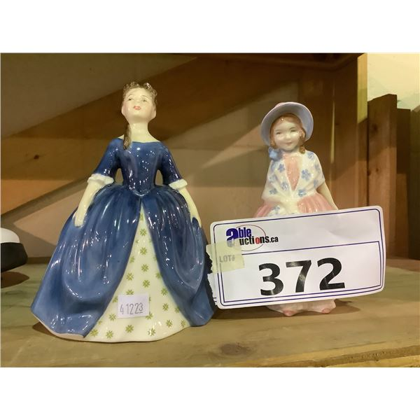 2 ROYAL DOULTON FIGURES DEBBIE AND LILY