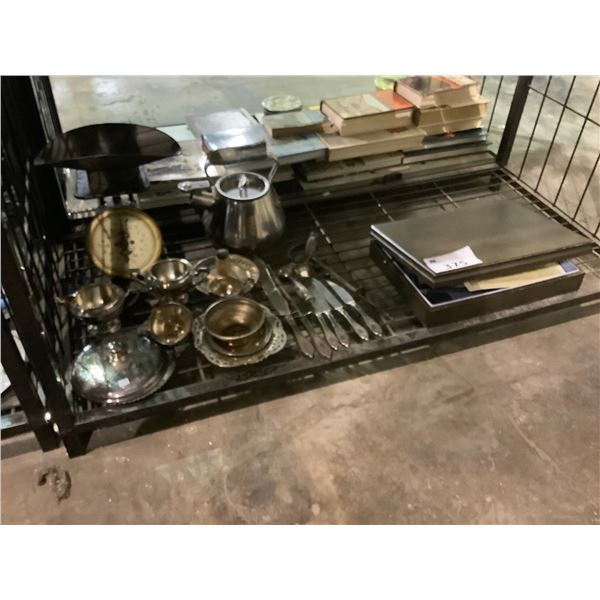 ASSORTED DISHWARE, CUTLERY, & SATIN GEO STAINLESS CUTLERY