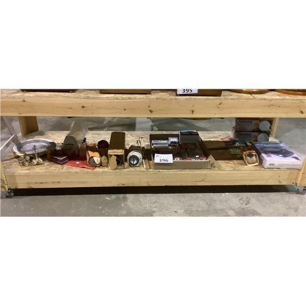 ASSORTED TOOLS, WALL CLOCK, OPTIVISOR, & MORE