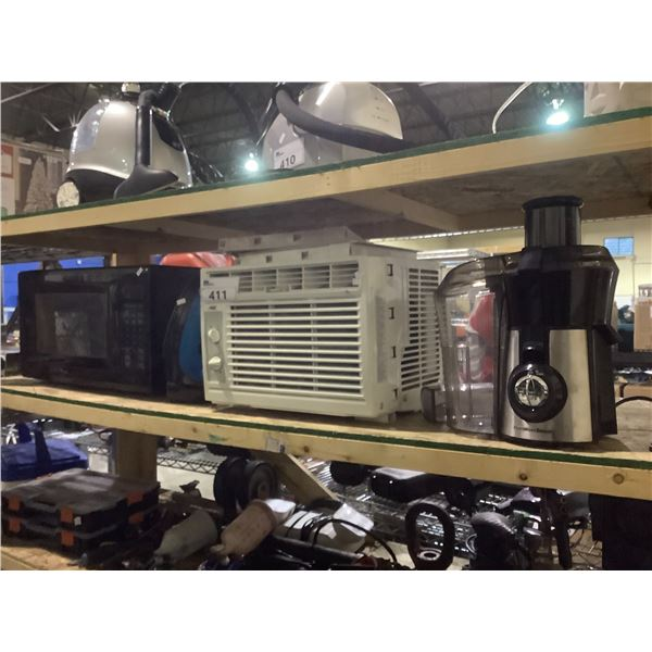 AIR CONDITIONER, MICROWAVE, IRON, & JUICER