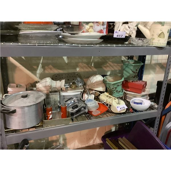 ASSORTED DISHWARE, PLANTERS, & MORE