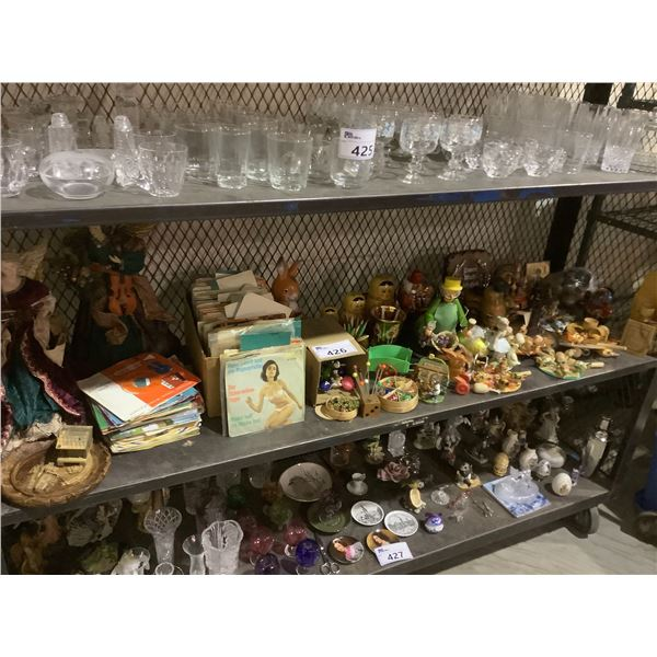 ASSORTED VINYL RECORDS, COLLECTIBLE TOYS, & MORE
