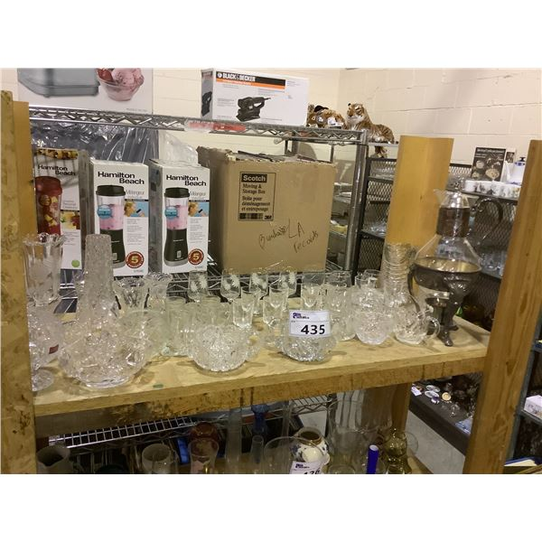 ASSORTED CRYSTAL WARE