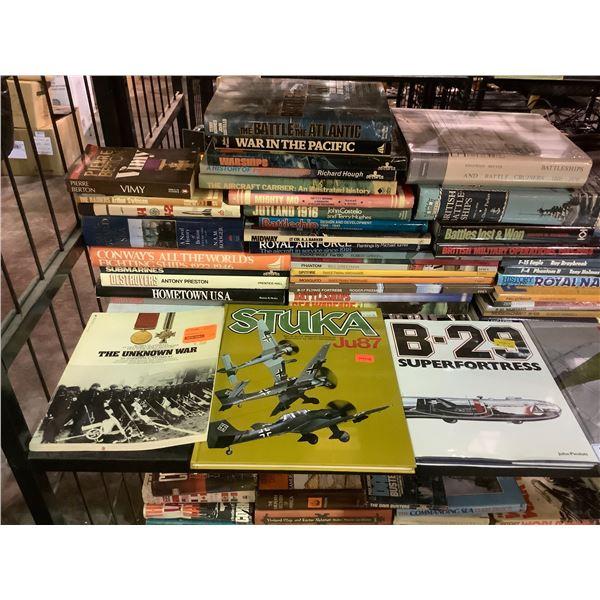 ASSORTED WAR THEMED BOOKS