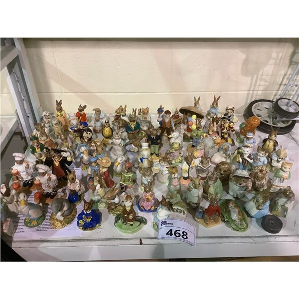LARGE COLLECTION OF ROYAL DOULTON BUNNYKINS AND BESWICK FIGURES
