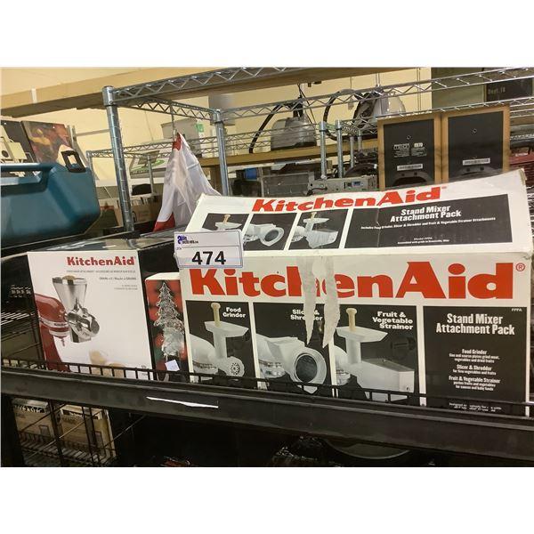 KITCHENAID STAND MIXER ATTACHMENT KIT, GRAIN MILL ATTACHMENT, & GLASS WINE CORK