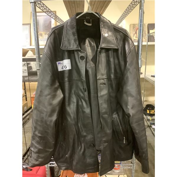 LEATHER JACKET(XXL) AND PANTS (UNKNOWN SIZE)
