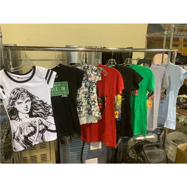 8 GRAPHIC TSHIRTS SIZE SMALL