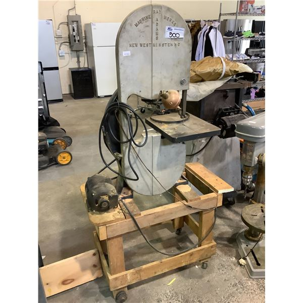 RAY ADAMS MACHINE WORKS NEW WESTMINSTER BANDSAW