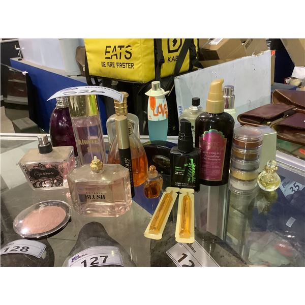 ASSORTED PERFUME, COLOGNE AND HAIR CARE
