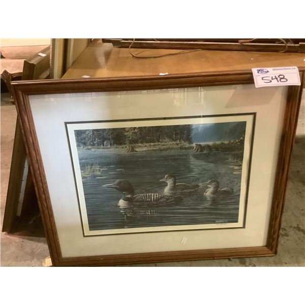 """FRAMED AND ARTIST SIGNED LEP 690/1450 TITLED """"HEADING HOME"""" BY PAUL RANKIN"""