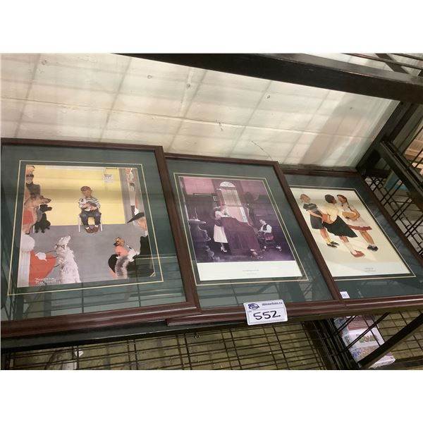 ASSORTED FRAMED NORMAN ROCKWELL PRINTS