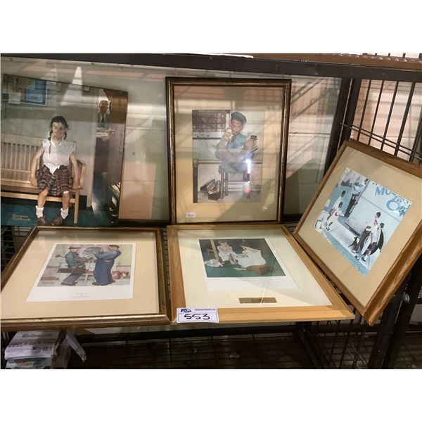 ASSORTED NORMAN ROCKWELL PRINTS