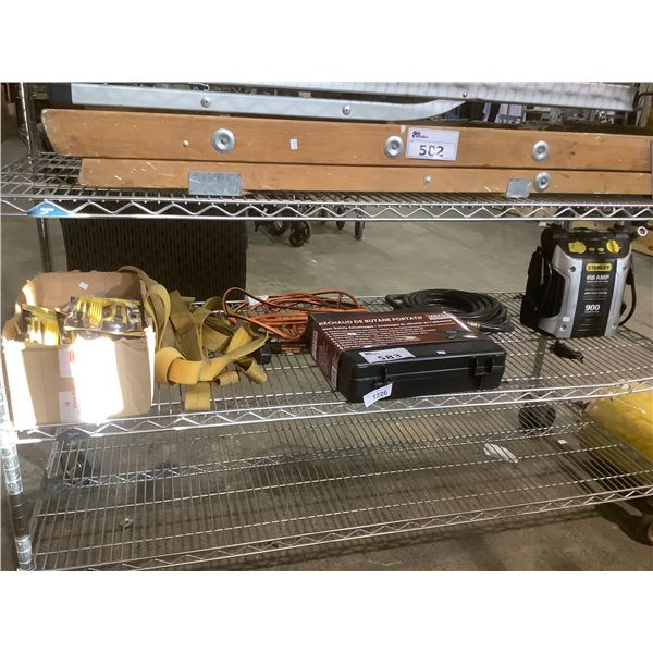 STANLEY JUMPSTART SYSTEM, AIR HOSE, PORTABLE CAMPING STOVE AND MORE
