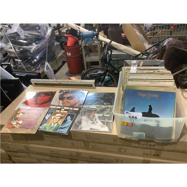 ASSORTED VINYL RECORDS INCLUDING; SUPERTRAMP, JOHN LENNON, BOB DYLAN, ROLLING STONES, DISNEY AND