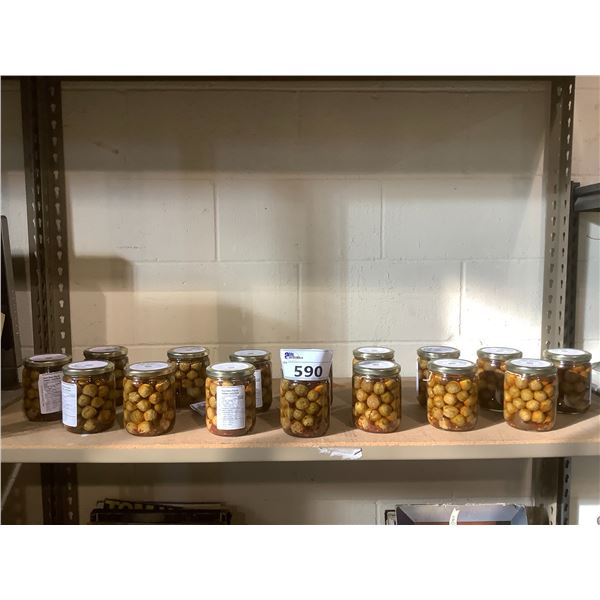 16 JARS OF PICKLED BRUSSEL SPROUTS
