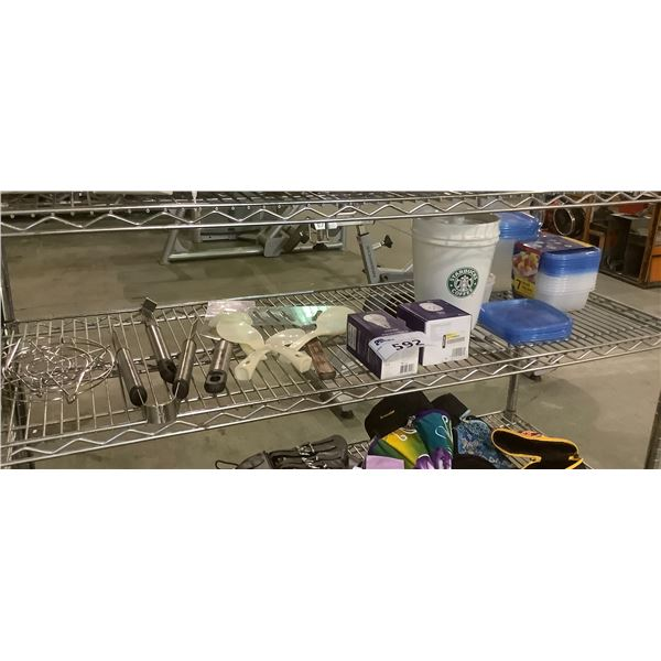 LOT OF TUPPERWARE AND KITCHEN ACCESSORIES