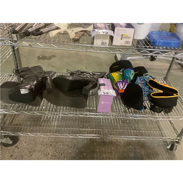 2 PAIRS BOOTS, KIDS HEADPHONES, LUNCH BAGS AND MORE