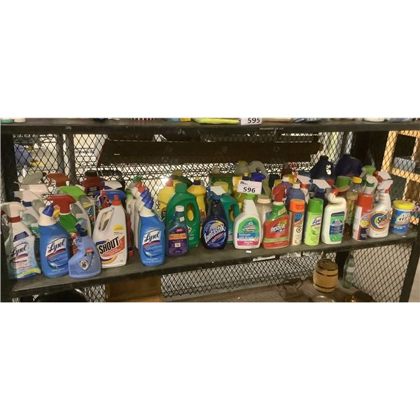 SHELF OF ASSORTED CLEANERS