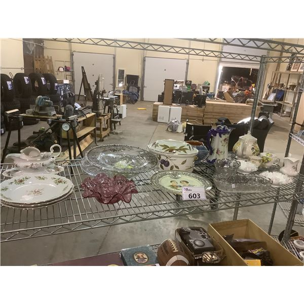 ASSORTED CHINA AND GLASS WARE