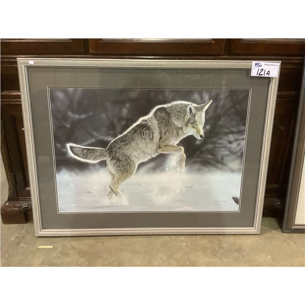 FRAMED AND ARTIST SIGNED LEP 181/650 BY R.FEHR 1992 TITLED WINTER WOLF