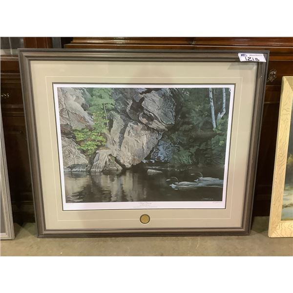 FRAMED AND ARTIST SIGNED LEP 639/6750 BY CLINT JAMMER TITLED SILENT PASSING ARTIST OF THE YEAR