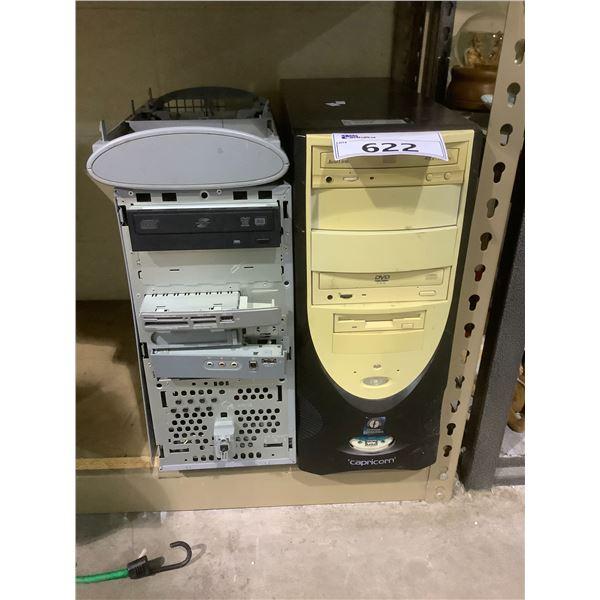 2 COMPUTERS NO HARD DRIVES