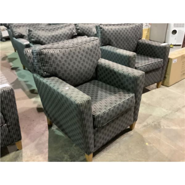 GREY AND BLACK LOUNGE CHAIR