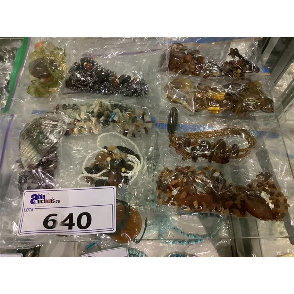 ASSORTED BAGS OF JEWELRY