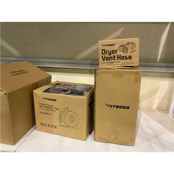 NEW IN BOX VIVOSUN BRING GREEN TO LIFE INLINE FAN COMBO (VENTILATION FAN, CARBON FILTER, AND DRYER