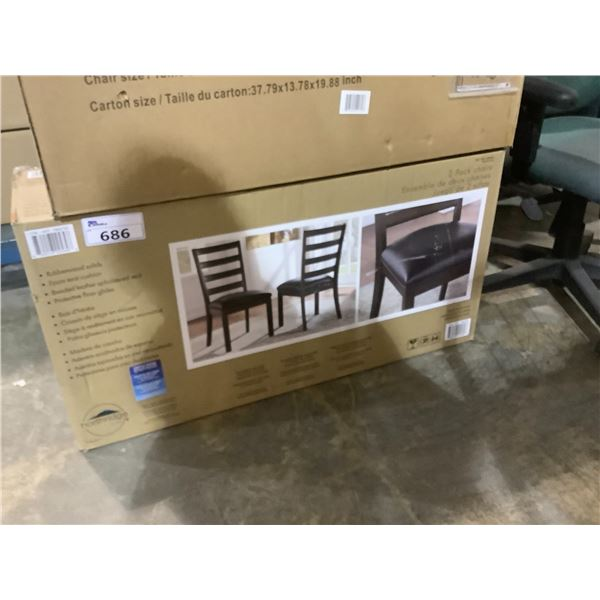 2 PACK CHAIRS