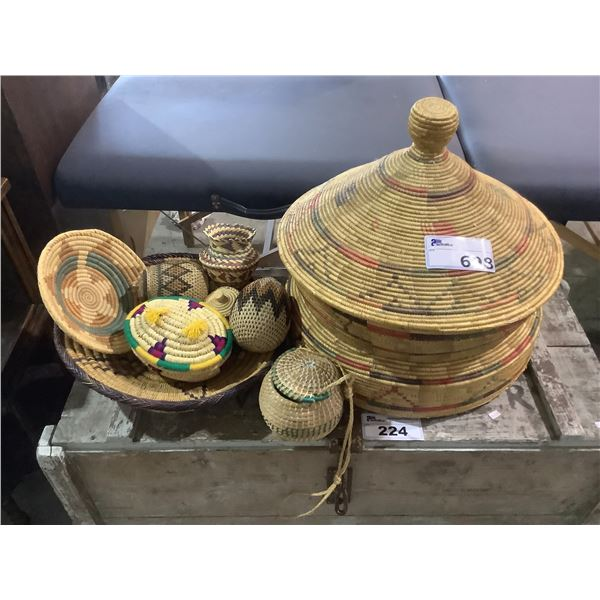 ASSORTED WICKER PRODUCTS