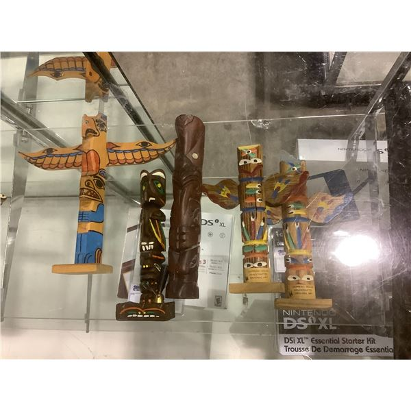ASSORTED TABLE TOP TOTEM POLES