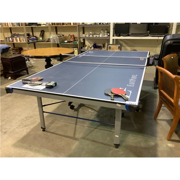 EASTPOINT PING PONG TABLE WITH 4 PADDLES AND BALLS