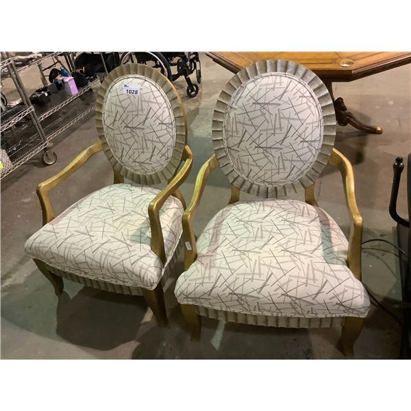 2 GOLD TONE CHAIRS