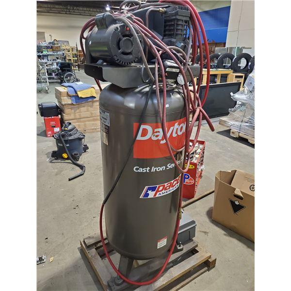 DAYTON 60 GALLON 135 MAX PSI 250 VOLT UPRIGHT AIR COMPRESSOR (WITH HOSE)