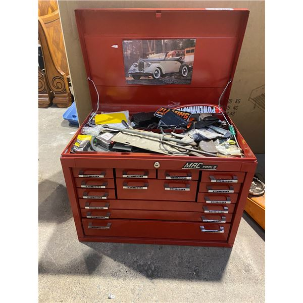 MAC TOOLS RED 13-DRAWER TOOL CHEST (WITH CONTENTS)