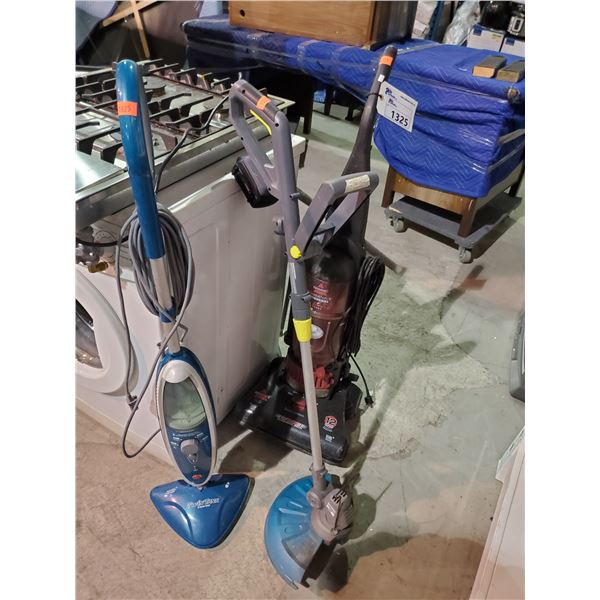 TWIN TANK STEAM MOP, BISSELL POWERFORCE BAGLESS VACUUM, ELECTRIC TRIMMER