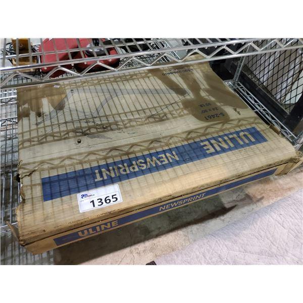 BOX OF U-LINE NEWSPRINT PAPER