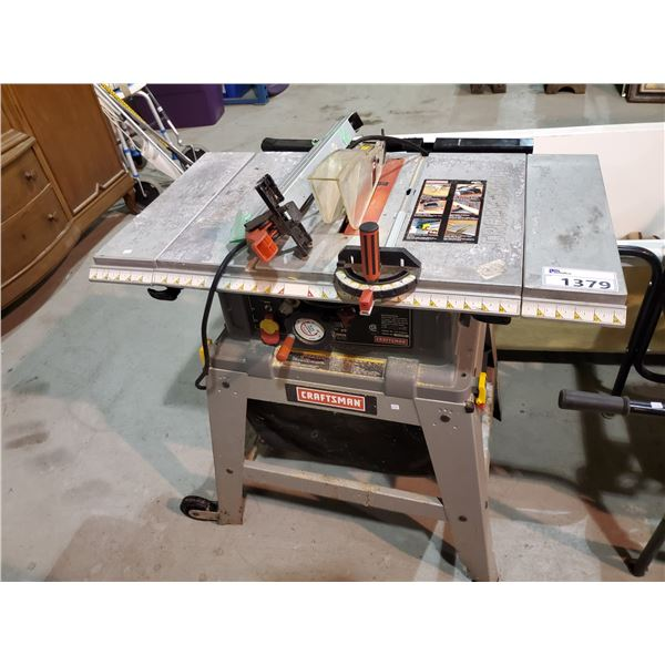 """CRAFTSMAN 10"""" TABLE SAW & ACCESSORIES"""