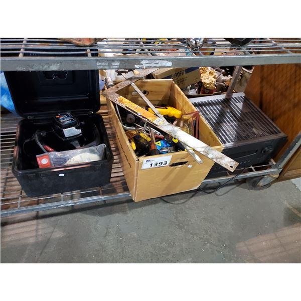 WEN ORBITAL CAR WAXER, BOX OF SMALL HAND TOOLS, B&K COMPONENTS AMPLIFIER