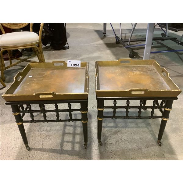 2 ROLLING SIDE TABLES