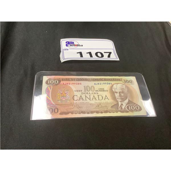 100 DOLLAR CANADIAN BILL 1975